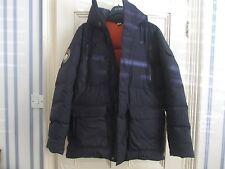 Homme QUECHUA Duck Down Zippé Manteau d'hiver Veste Bleu Marine UK taille L ** Nouveau **