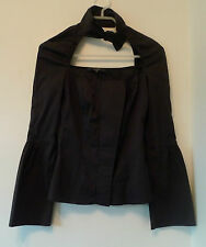 Gucci black shirt with cut-out neck and faux bow tie - Size Italy 38 (UK 8)