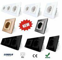 Plug Electric Wall Glass Eu Livolo Power Socket Wall Crystal 250V AC 16A