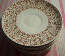 "8 Royal China Chantilly Sandlewood Replacement Saucers 6 1/2"""