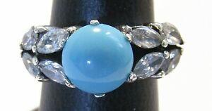 Turquoise Gemstone Ring, 925 Sterling silver, Handmade Women