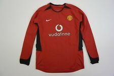 2002-04 nike Manchester United Home Shirt Long Sleeve YOUTH L.Boys 152-158 cm