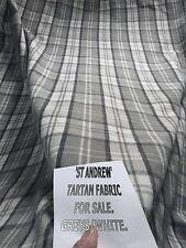 10M ST ANDREW GREY WHITE BLACK WOOL TARTAN THICK FABRIC THERMAL URBAN CONTEMPORA