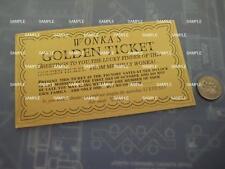 Willy Wonka Golden Replica Ticket - Screen Accurate Art Work