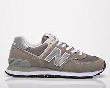 New Balance 574 Core женские серые белые, низкие, повседневные повседневные кроссовки, обувь