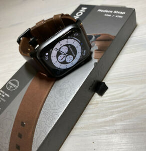 "NOMAD Apple Watch Leder Armband ""Modern Strap"" braun 44mm/42mm *wenig getragen*"