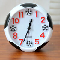 KE_ KQ_ AU_ Creative Football Alarm Clock Desk Stand Battery Power Kids Room D