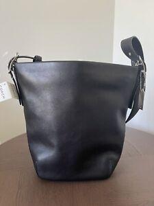 Vintage Coach Black Duffle Bucket Shoulder Bag 9186 NWT