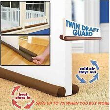 Twin Door Doorstop Decor Drafts Dodger Guard Stopper Energy Saving Protector