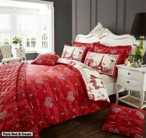 Floral Chic, French, Paris, London, Italy, Duvet Quilt Cover Bedding Sets