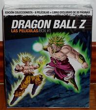 DRAGON BALL Z LAS PELÍCULAS BOX 1 EDICION COLECCIONISTA 4 BLU-RAY+LIBRO NUEVO R2