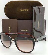 Lunettes de soleil Tom Ford Cary TF58 01D Noir//Fumée Polarisé RRP £ 225