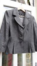 EPISODE CHARCOAL MELANGE WOOL MIX JACKET SIZE 14