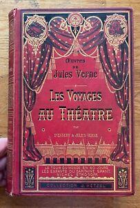 Jules VERNE - CARTONNAGE SPECIAL - Voyages au Théâtre - E.O - 1881 - HETZEL