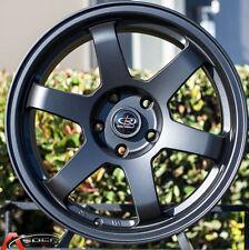 17X8 Rota Grid 5x100 +35 Black Rims Fits Corolla Celica Wrx Brz