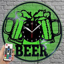 LED Clock Beer Vinyl Record Wall Clock Led Light Wall Clock 403