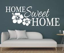 X4641 Wandtattoo Spruch Home Sweet Home Zuhause Flur Sticker Wandaufkleber Bild