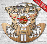 FORD MUSTANG Classic car Wood wall clock | Real wood | New Best quality
