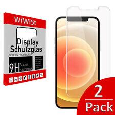 2 x Panzerfolie iPhone 13 12 11 XS XR Pro Max Mini ultraclear Premium Schutzglas