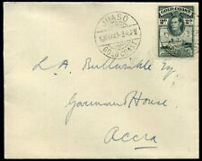 Gold Coast WWII 1943 2d KGVI single franking Juaso