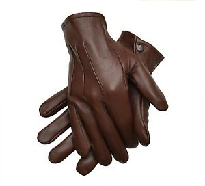 Men's Leather Costume Dress Gloves Unlined Medieval Victorian Steampunk XL