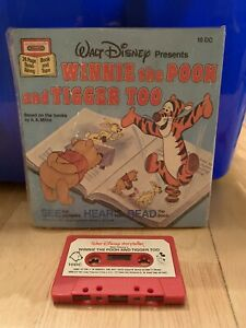 Vintage Disney Winnie The Pooh and Tigger Too Read-Along Book and Cassette Tape