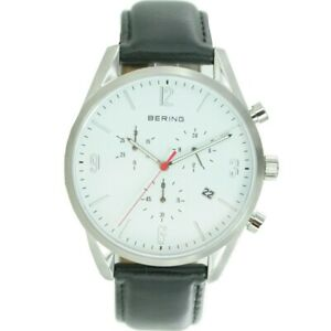 Bering Men's Watch Wristwatch Chronograph - 10542-404-1 Leather