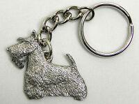 Scottish Terrier Scottie Dog Keychain Keyring Harris Pewter Made USA Key Chain