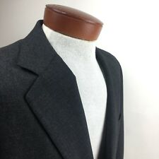 Southwick Mills Touche Dark Gray 3 Button 100% Wool Suit Jacket & Pants 34R