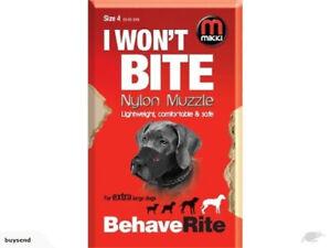 Mikki I Wont Bite Nylon Dog Muzzles Size 1,2,4,8,10 For Dogs