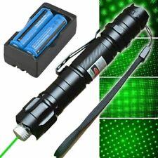 Visible Beam Green Laser Pointer Pen 532nm Star Cap Bright Lazer + 18650 Battery