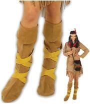 Copristivali Indiana Accessori Costume Carnevale Donna indiani Far West PS 19856