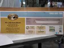 Hampton Bay 96-Watt Brushed Nickel Integrated LED Ceiling Flush Mount