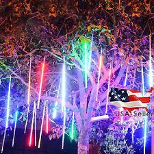 240Pcs Waterproof Solar LED Meteor Shower Light Holiday Laser String Lamp Garden