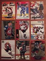 Joe Sakic (9) Card Lot Various Years -  Colorado Avalanche Quebec Nordiques HOF