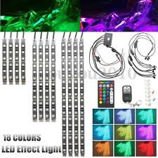12Pcs Motorcycle RGB LED Flexible Neon Under Glow Light Strip Kit Voice Control