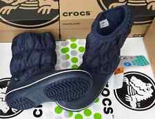 CROCS WINTER PUFF BOOT ALLCAST CLAIRE NADIA DUET SNOW SHOE~Navy Blue~W 8~NWT