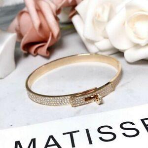 Authentic Diamond Hermes Kelly Bracelet 18kt Rose Gold.Size M.