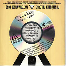 GREEN DAY Bullet In A Bible UK 14-tk numbered/watermarked promo test CD sealed