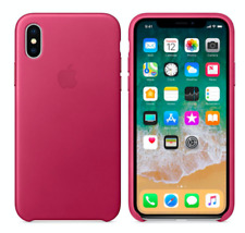 iPhone X 5,8″ Apple Genuine Original Leather Protective Case Cover Pink Fuchsia