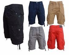 Mens Smith & Jones Cotton Summer 3/4 Cargo Holiday Beach Shorts Bottoms Trousers