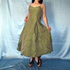 metallic schimmerndes COCKTAILKLEID in grün s Abendkleid Etuikleid Ballkleid