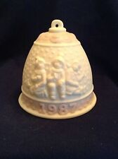 Lladro 1987 Bell snow children kids pink ornament