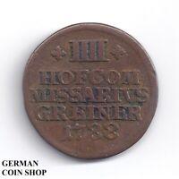 Kupfermarke zu 4 Kreuzer von 1788 der Porzellanfabrik Limbach Breitenrach