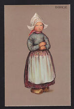 c1907 Dirkje Dutch child Netherlands art greetings postcard