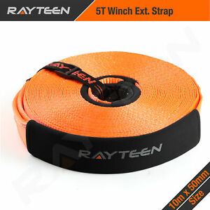 RayTeen Winch Extension Snatch Strap Recovery Tow Strap 5T 50mm x 10m 4WD