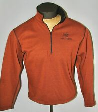 Arc'Teryx Rust Orange 1/4-Zip Polartec Fleece Sweater Shirt - Unisex Small