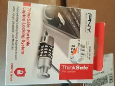 New Pny Thinksafe Portable Laptop Locking System P-Tsul1-Rb + Clamp P-Tsuc1-Rb