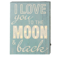 LED Light Box Sign Vintage Inspired I Love You To The Moon & Back 13.5""