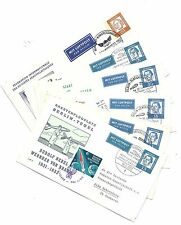 Germany Cover Panel Lot of 6 - 1962 Luftpost Rocketmail Tied Cinderella Stamps